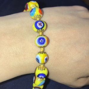 Murano Mosaic Bracelet in Yellow from Italy